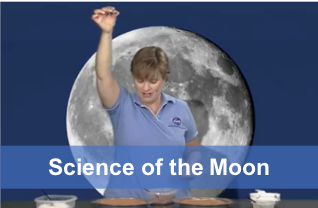 Teacher demonstrating crater-making activity