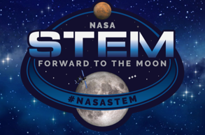 STEM Forward to the Moon logo