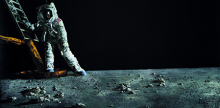 Paul Calle painting of AStronaut stepping onto Moon
