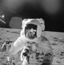 Astronauts Alan Bean and Charles Conrad on Lunar Surface, November 20, 1969. Saturn Apollo Program. NASA, #6903870.