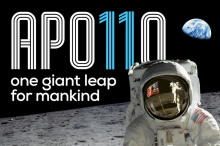 Apollo 11: One Giant Leap for Mankind exhibit poster