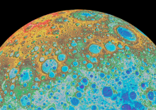 false color Moon